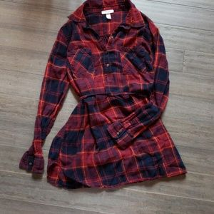 Maternity flannel tunic